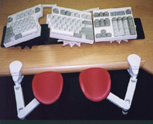 Ergonomic Arm Rests with Comfort Keyboard