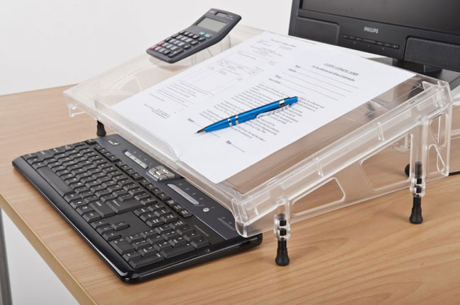 Microdesk ergonomic writing table
