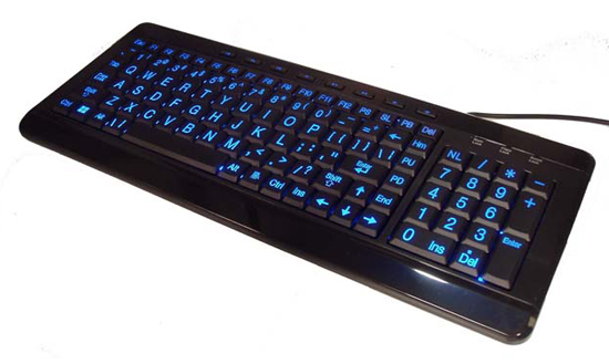 Compact Large Print Multimedia Backlit keyboard