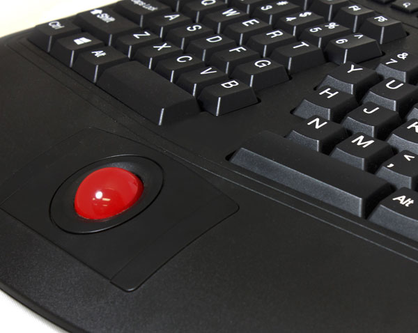 Ergonomic Multimedia Keyboard Optical Trackball