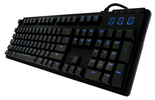 Gaming Keyboard with Blue Cherry Blue LED