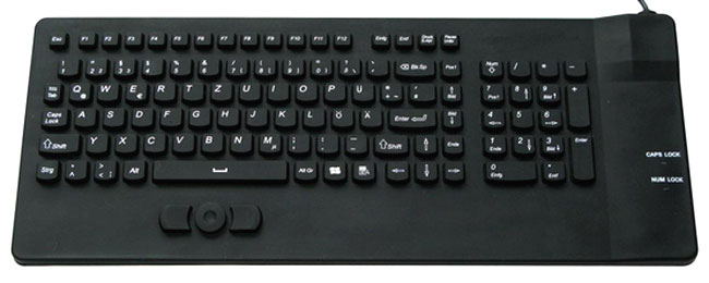 Silicone Industrial Keyboard with Pointing Device
