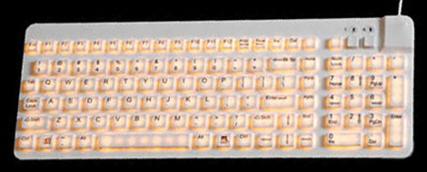 Illuminated Water Resistant Compact Keyboard for Industrial Use