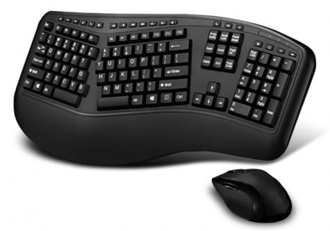 Wireless Multimedia Keyboard with Optical Mouse