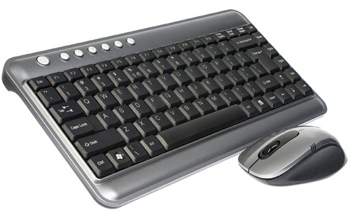 Mini Multimedia Keyboard and mouse RF wireless in Gray