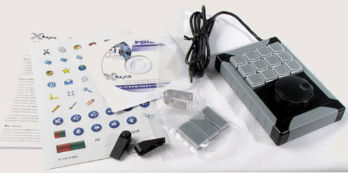 12 Key Programmable Jog & Shuttle Keypad with accessories