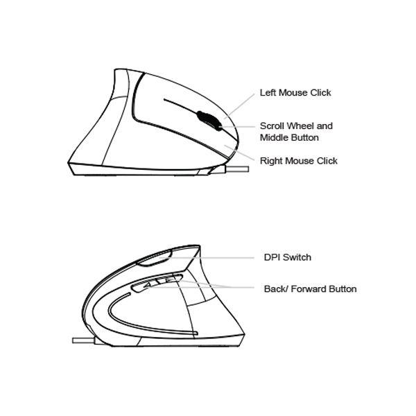 Ergonomic Vertical Mouse details