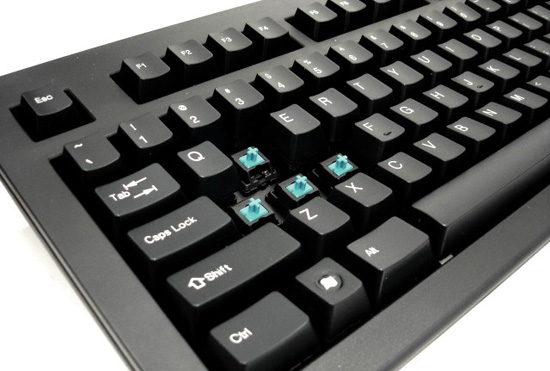 Blue CHERRY Mechanical Switch view in Keyboard