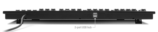Switchable Dvorak Keyboard rear view