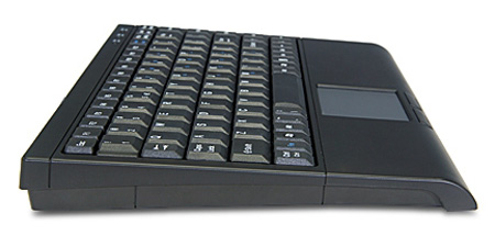 Side view Mini Illuminated Smart Touchpad keyboard