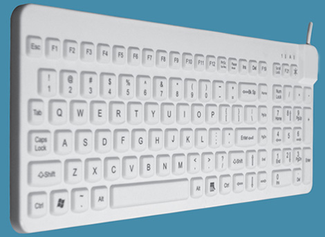 Side view Compact Washable keyboard