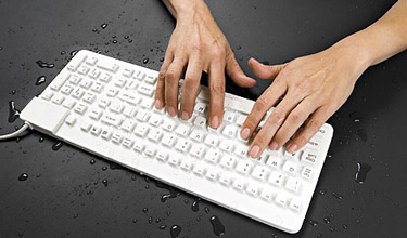 Water Resistant Compact Keyboard for Industrial Use