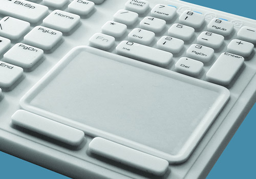 Side view water resistant Touchpad keyboard