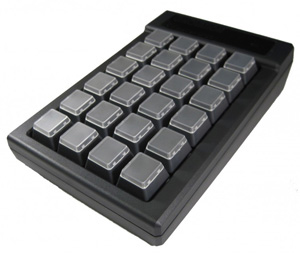 24 Key Programmable keypad angle view