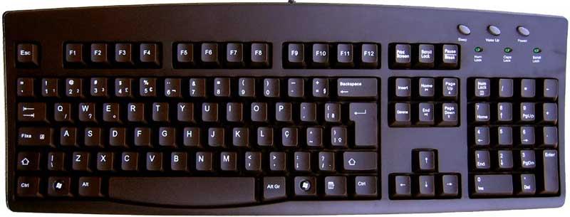 Portuguese Keyboard And Portuguese Keyboard Labels