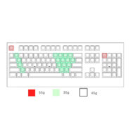 Realforce 103U key weighting