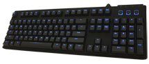 Blue Backlit Brown CHERRY Mechanical Gaming Keyboard