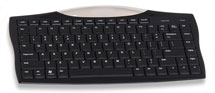45' RF Wireless Keyboard w/optical trackball