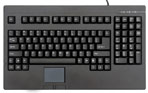 Space Saving Keyboard with Touchpad Rack Mounting