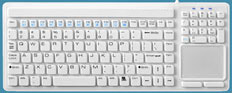 Water Resistant Keyboard with Touchpad
