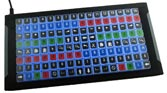 128 key programmable keyboard with backlighting