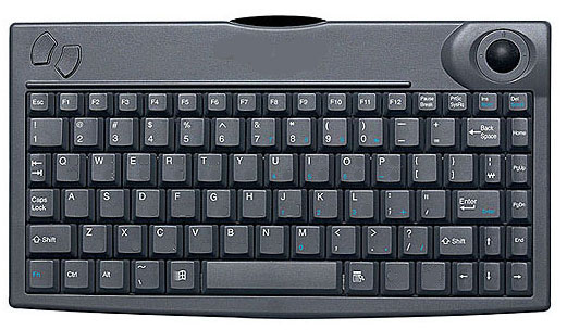 Mini Wireless IR Keyboard with Built-in Trackball