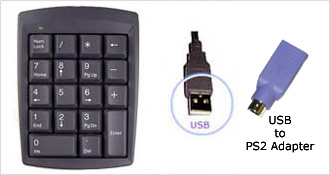 18 Key USB or PS2 Keypad
