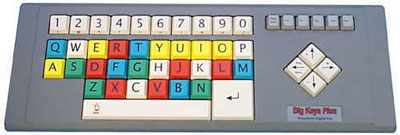 Large Key Keyboard with Colored keys