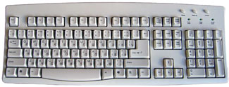 Russian Language Keyboard in White