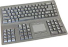 Space Saving Financial Keyboards with Touchpad